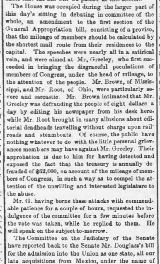 18490111-eveningpost - Ilouston.Jonn-on. princi- The House was...
