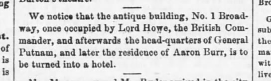 30 april 1849 the evening post - of is is We notice that the antique building,...