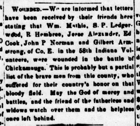 Jasper Weekly Courier, 10/3/1863, p. 2 - Wouaocn.—W** ore Informed that lettera ihsvs...