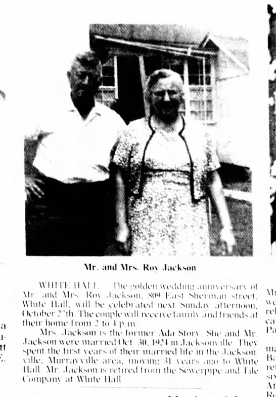 Roy and Ada Story jackson