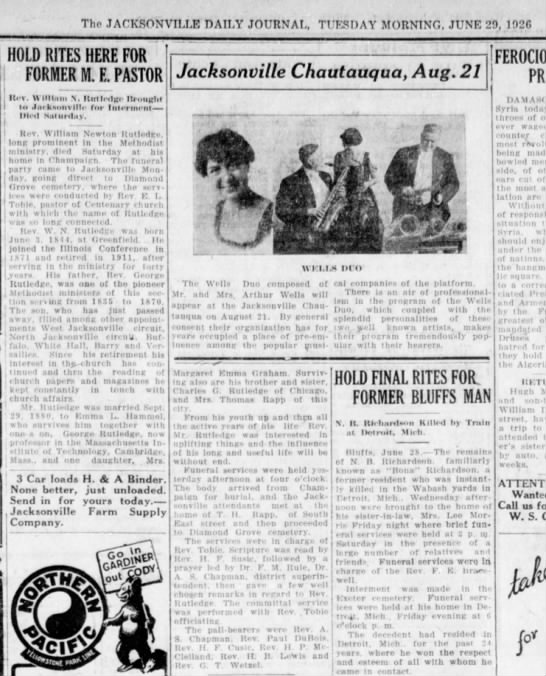 Jacksonville Daily Journal (Jacksonville, Illinois) Aug. 4, 1926 pg 5 - Tho JACKSONVILLE DATI,Y JOURNAL, TUESDAY...