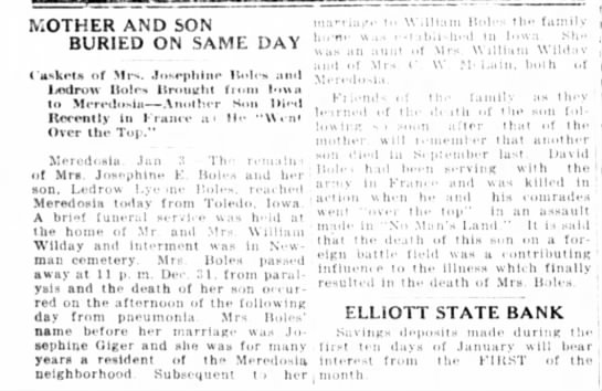 Funerals of Josephine Boles and son Ledrow Boles at Wilday home - MOTHER AND SON BURIED ON SAME DAY i asketn of...
