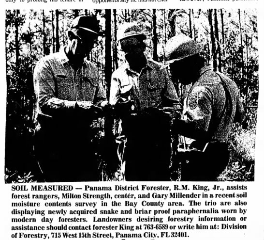 Panama City News-Herald, May 30, 1976 - SOIL MEASURED — Panama District Forester, R.M....