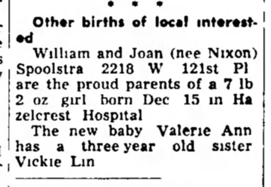 - Other births of local William and Joan (nee...