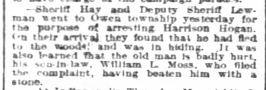 8september1888courier - Sheriff Kay bod IVpury Sheriff Lew-man Lew-man...