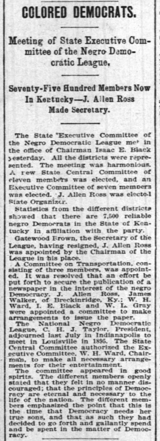 1895-01-16-Courier-Journal[Kentucky]-p6-ColoredDemocrats - to-do COLORED DEMOCRATS. Meeting of State...