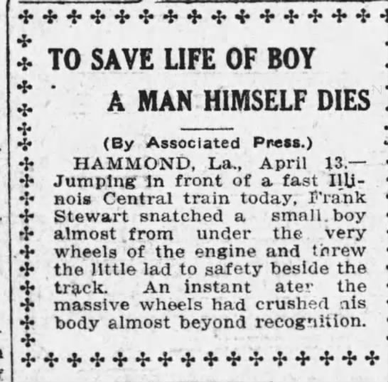 FGS - TO SAVE LIFE OF BOY A MAN HIMSELF DIES . (By...