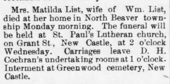 Matilda List