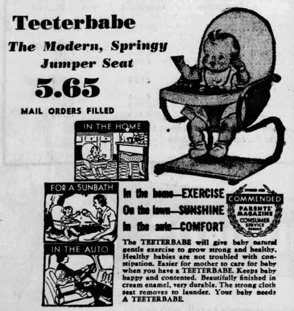 Teeterbabe jumper seat