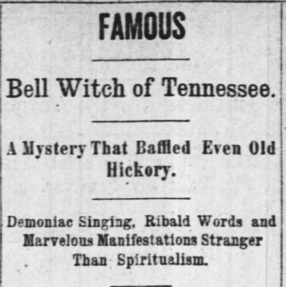 Bell Witch of Tennessee