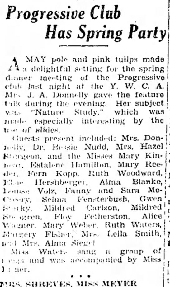 Ruth Woodward?  14 May 1932