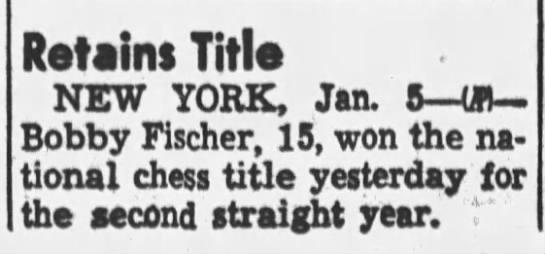 Retains Title - Retains Title NEW YORK, Jan. 5 UK-Bobby...