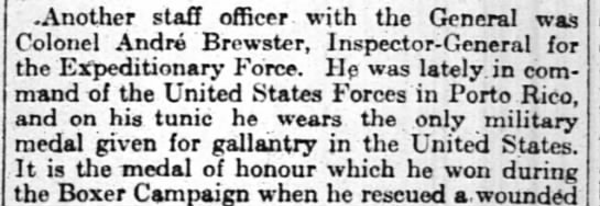 Brewster in PR 1917 - Another staff officer with thc General was...