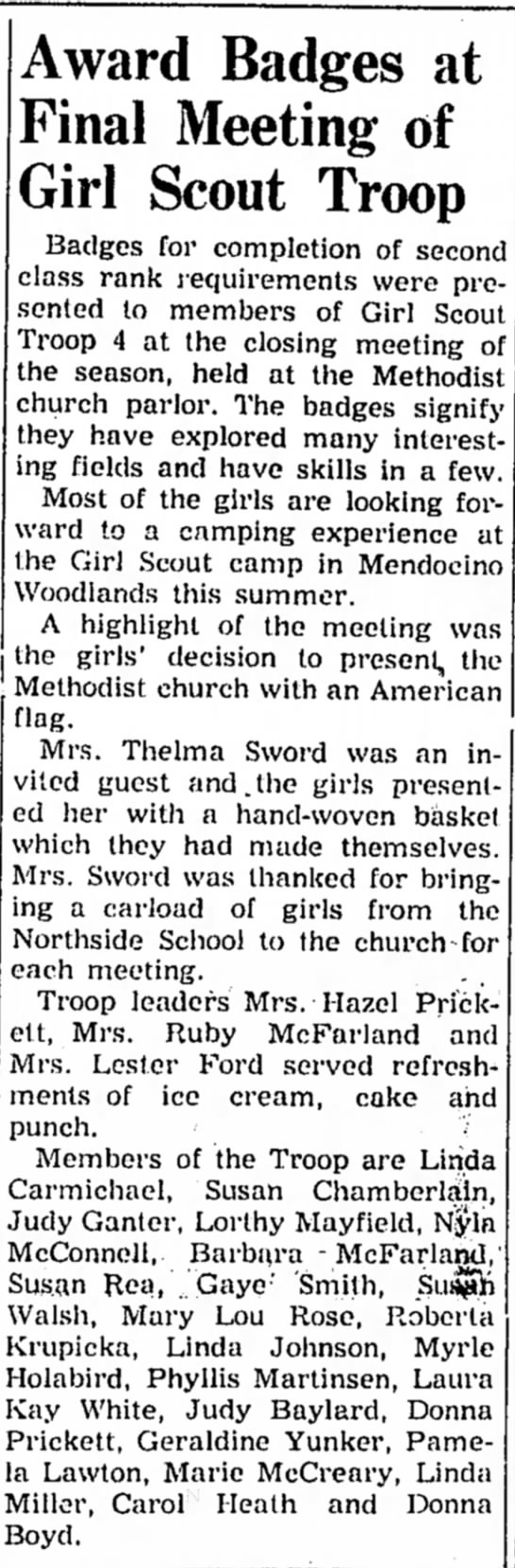 Girl Scouts - Myrle Holabird