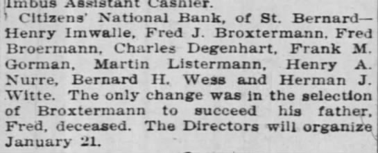 Other Banks Re-Elect