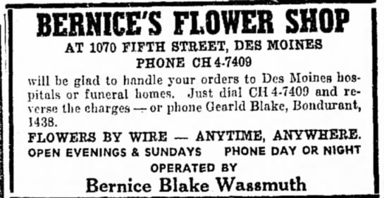 Bernice's Flower Shop