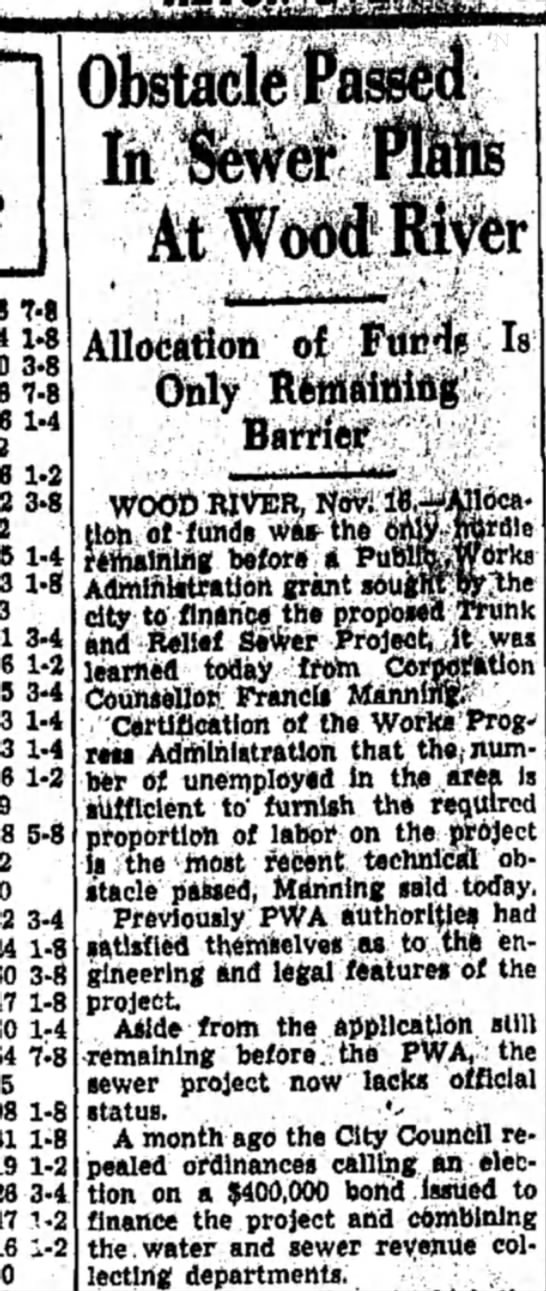 F Manning - WOOD RIVER, Novi tion of funds was- the -...