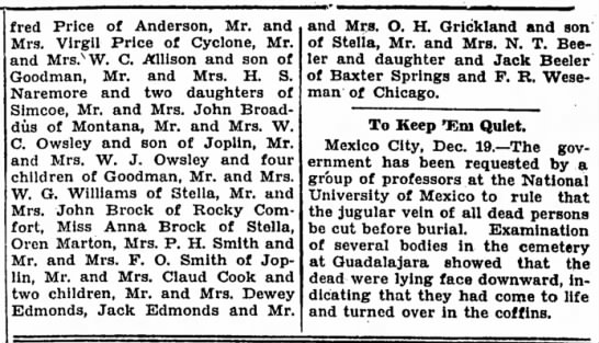 - fred Price of Anderson, Mr. and Mrs. Virgil...