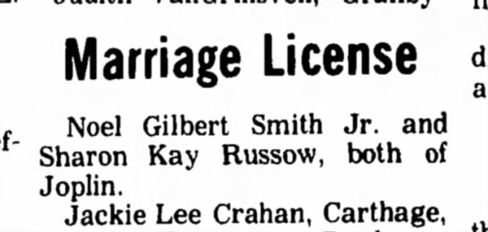 - Marriage License Noel Gilbert Smith Jr. and...