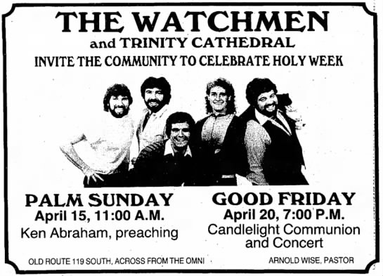 Trinity Cahedral Week July 28 1999 - THE WATCHMEN and TRINITY CATHEDRAL INVITE THE...