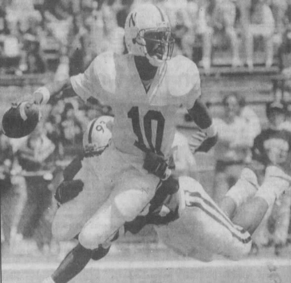 1991 spring game photo, Travis Hill & Keithen McCant