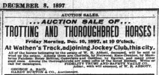 - DECEMBER 8. 1897 AUCTION SALTS. i... AUCTION O...