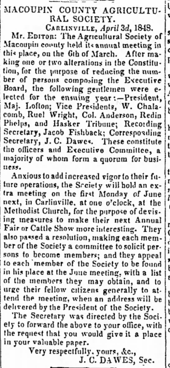 "ruel wright 4-28-1848 alton weekly telegraph  - ,,,, _"""",,... ""_"",._"" ."""","".., RAL SOCIETY...."