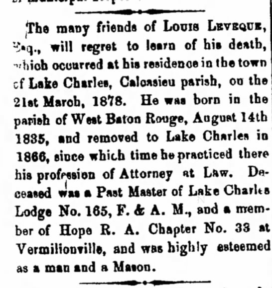 Louie Levique - The many friends of Louis Lkvbqub, ->q., will...