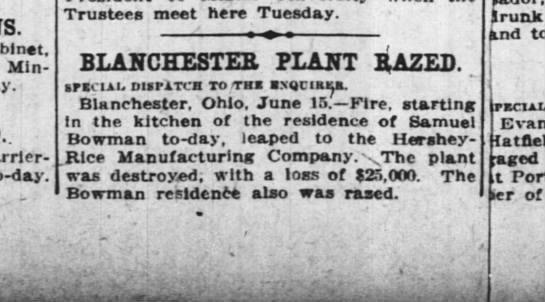 Hershey-Rice Fire - Cabinet, Minister Carrier-Belleuse, to-day....