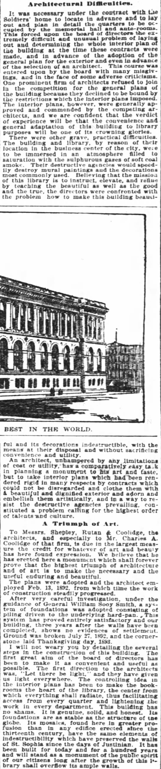 Architechtural Difficulties