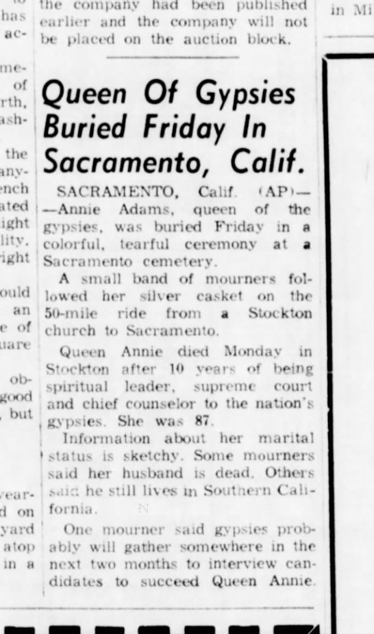 Queen Dies - has accidents of flashes the anything...