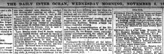 "caldwel - THE DAILY"" INTER OCEAK, .WEDNESDAY MOHNING,..."