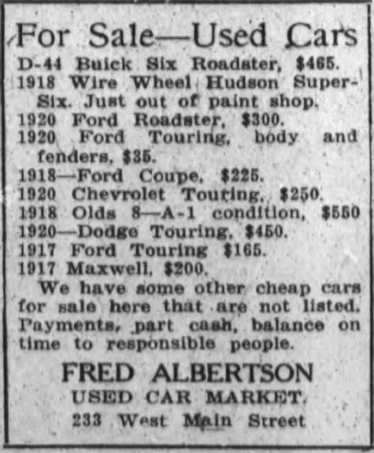 Fred Albertson Used Cars