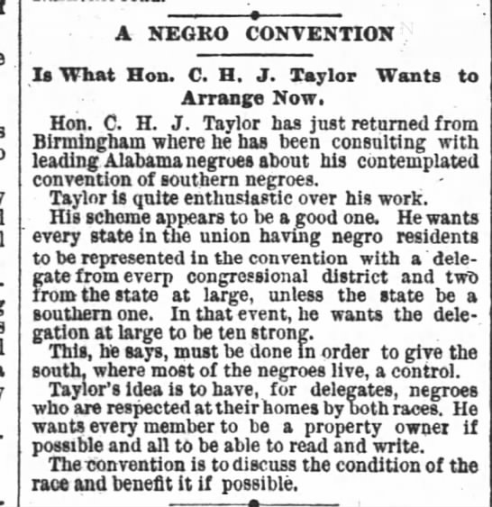 1890-07-04-AtlantaConstitution-p5-ANegroConvention - A NEGRO CONVENTION Is What Hon. C. H. J. Taylor...