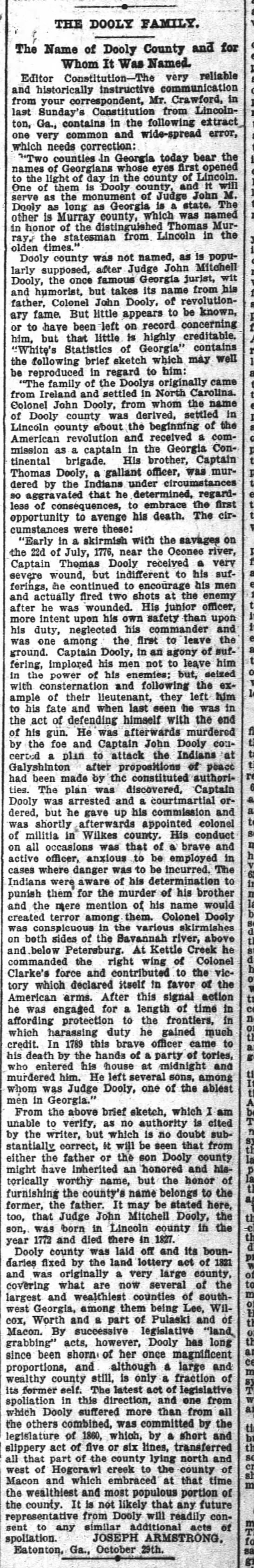 Dooly Co., Georgia