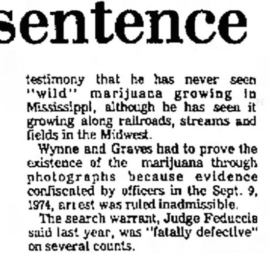 - sentence testimony that he has never seen...
