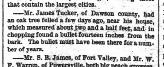 James Tucker, Dawson County-The Atlanta Constitution-p.4-1 Apr 1890 - that contain the largest cities. — Mr. James...
