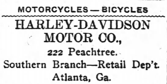 Dec 1914 - MOTORCYCLES BICYCLES HARLEY-DAVIDSON MOTOR CO....