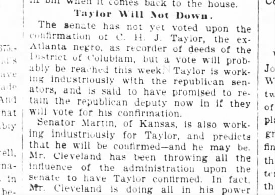 1894-05-22-AtlantaConstitution-p1-TaylorWillNotDown - j 1 l 1 l i S i S i t i 1 \i i \i i 1 nnat Wt3t...
