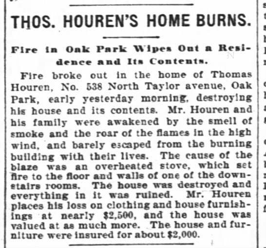 Thomas Houren Home Burns