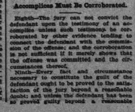 - Accomplices Must Ba Corroborated. iiMlk-Th...