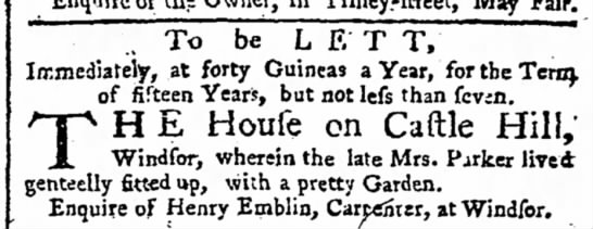 - Enquire of the Owner, in Tilney.-ftreet, May...