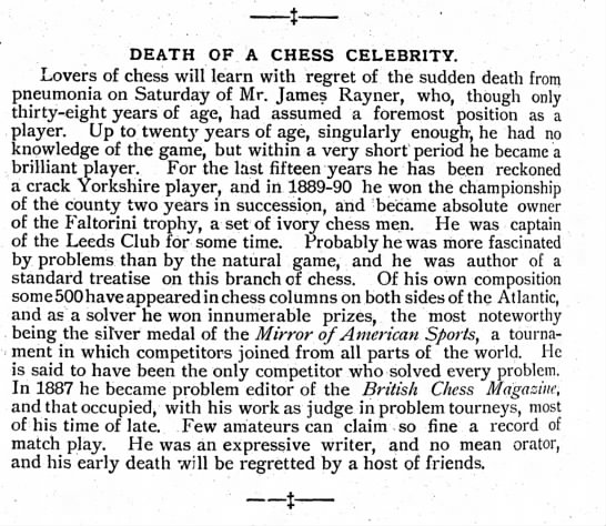 - DEATH OF A CHESS CELEBRITY. Lovers of chess...