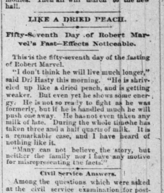 Like a Dried Peach - Indianapolis New Saturday August 10, 1889 - hall. IJJCE A DKIKD PFACll. . . . JHty-.Yenth...