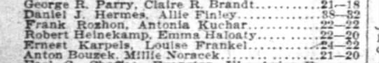 Directory Listing for Robert and Emma Haloaty Heinekamp - George R. Parry. Claire R. Brandt 211S Daniel...
