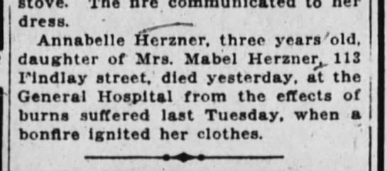 - dress. . Annabelle Herzner. three years 'old,...
