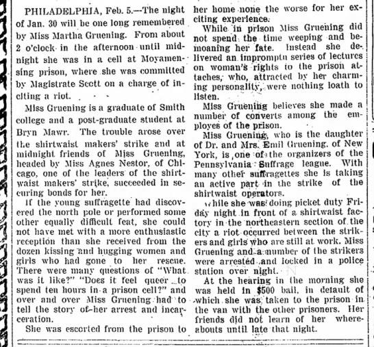 1910 02 05 ft wayne p12 text - that ^ jjfl PHILADELPHIA, Feb. 5.--The night of...