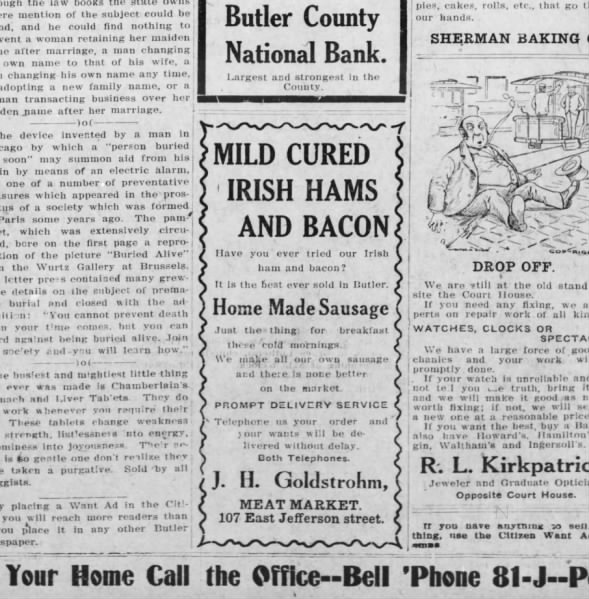 Milde Cured Bacon Advert