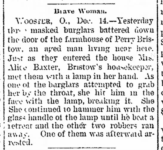 Alice Baxter beats up robber! - been which has 01 Mar- Five and :?ecn heard...