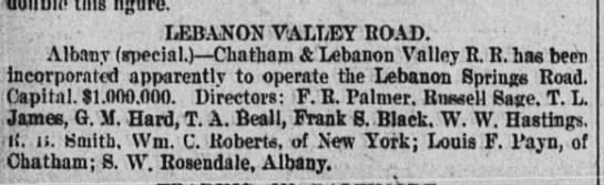 Lebanon Valley Railroad 1899